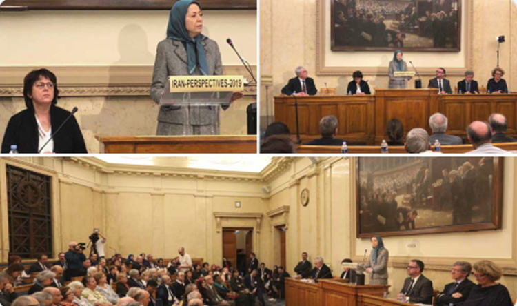 Iranian opposition President Maryam Rajavi - National Assembly - Paris, France