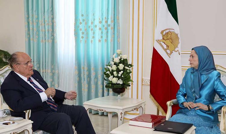 Maryam Rajavi Meets Rudy Giuliani in Albania