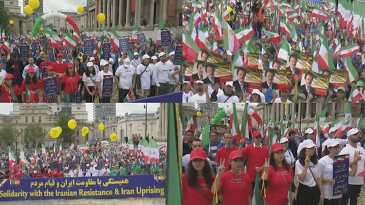 MEK protest in uk