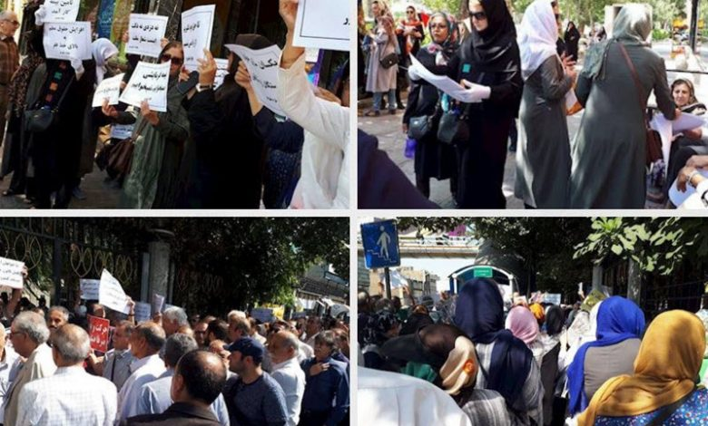 Demonstrations and Protests by Retirees, Teachers in Tehran and Isfahan