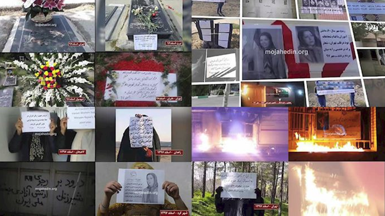 IRAN: Defiant Youths Torch Regime Symbols in Different Cities