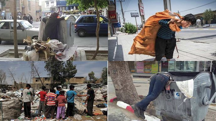 Garbage collector chidren in Iran- file photo