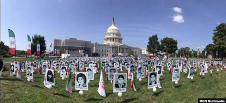 Pictures of some of the victims of the 1988 massacre in Iran - file photo