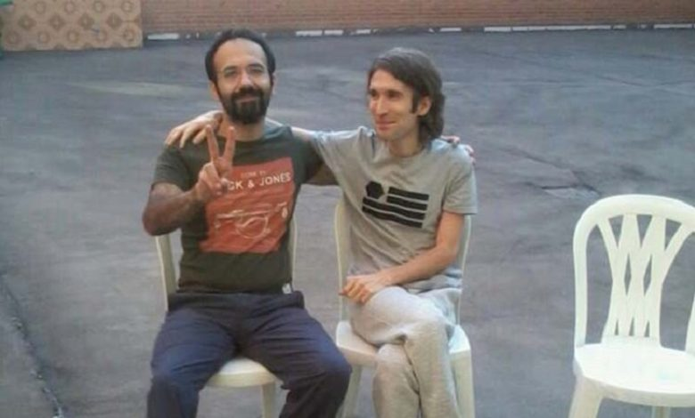 Soheil Arabi and Arash Sadeghi in Evin prison-Tehran-Iran. File photo