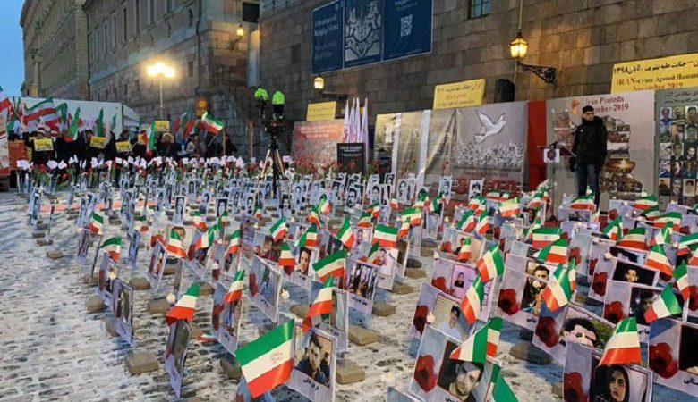 Photo exhibit of Iran protests martyrs in Stockholm Dec 10
