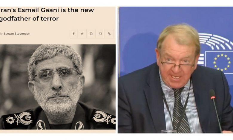 Struan Stevenson: Iran Regime's Esmail Gaani