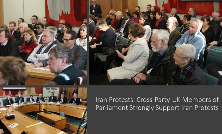 Iran Protests: Conference in the British Parliament in Support of the Iranian People's Uprising