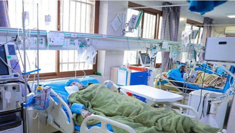 A Heartbreaking picture of people in Iran, passing out due to coronavirus.
