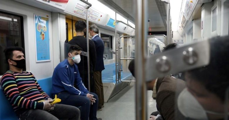Iran: Coronavirus outbreak, Tehran Metro