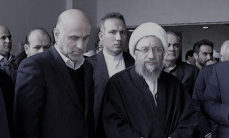 Akbar Tabari and regime's former Judiciary chief Sadeq Larijani