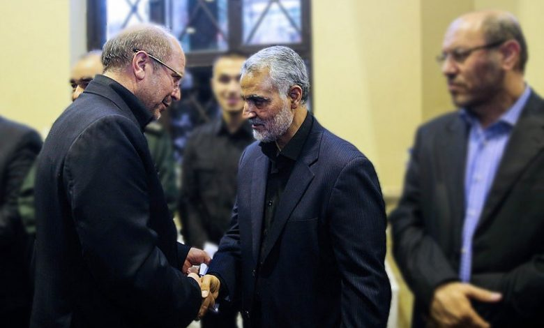 Qalibaf and Qassem Soleimani