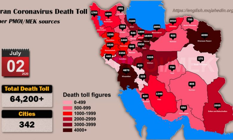 Iran: Coronavirus Update, Over 64,200 Deaths, July 2, 2020, 6:00 PM CEST