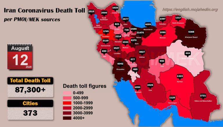 Iran: Coronavirus Death Toll in 373 Cities Exceeds 87,300