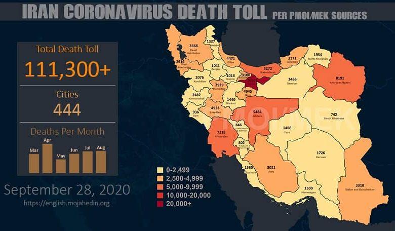 Iran: Coronavirus Update, Over 111,300 Deaths, September 28, 2020, 6:00 PM CEST