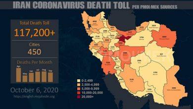 Iran: Coronavirus Death Toll in 450 Cities Exceeds 117,200
