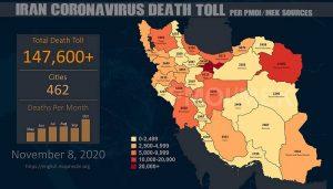 Iran: Coronavirus Death Toll Surpasses 147, 600 in 462 Cities