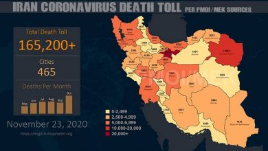Photo of Iran: Coronavirus Death Toll in 465 Cities Exceeds 165,200