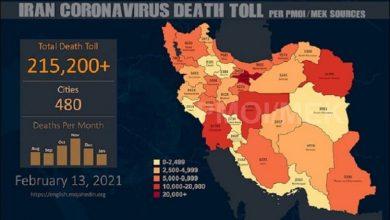 Photo of Iran: Coronavirus Death Toll in 480 Cities Exceeds 215,200