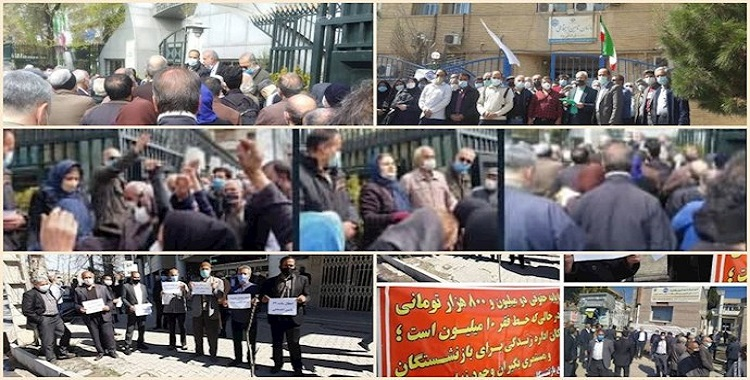 Iran: Retirees, Pensioners Stage Protests in 21 Cities Protests in 15 Provinces for the Eighth Week Running
