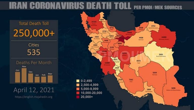 COVID-19 Takes the Lives of 250,000 in 535 Cities Across Iran