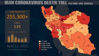 Photo of Iran: Coronavirus Fatalities In 539 Cities Surpass 255,300