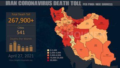 Photo of Iran: Staggering Coronavirus Death Toll in 541 Cities Surpasses 267,900