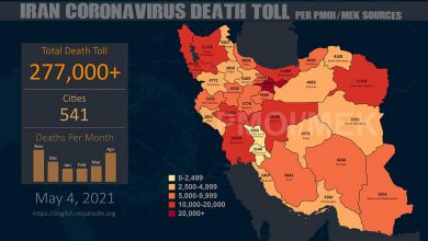 Photo of Iran: Coronavirus Death Toll in 541 Cities Exceeds 277,000