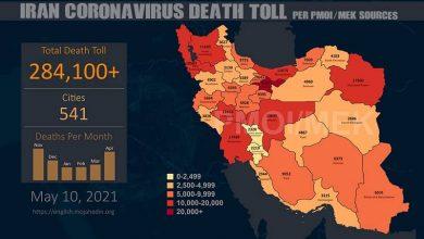 Photo of Iran: Coronavirus Fatalities In 541 Cities Had Exceeded 284,100