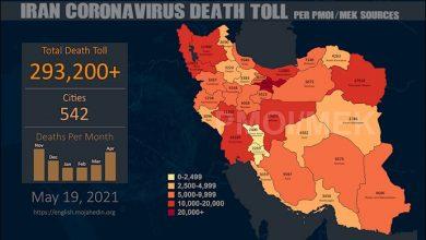 Iran: Coronavirus Death Toll in 542 Cities Exceeds 293,200
