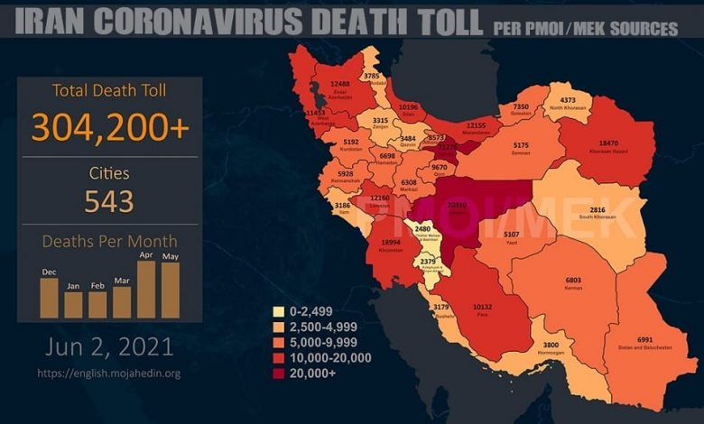 Iran: Coronavirus Death Toll Victims Is More Than 304,200