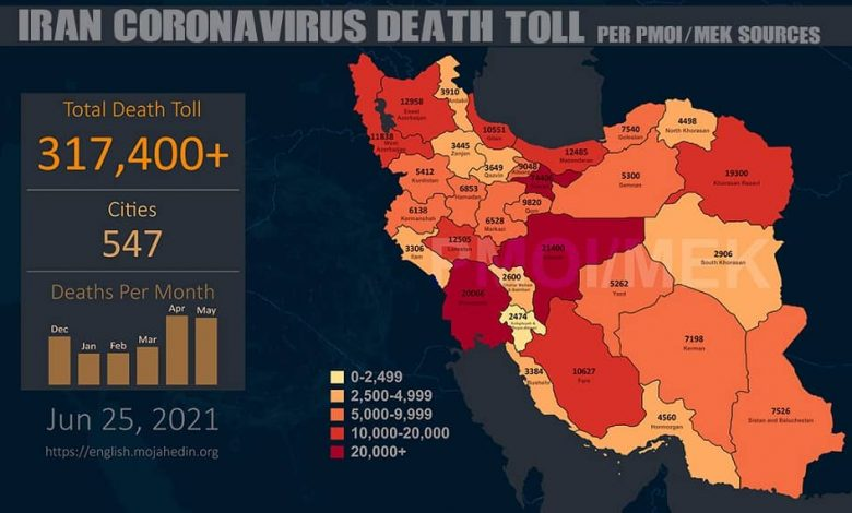 Iran: The Covid-19 Death Toll Exceeds 317,400