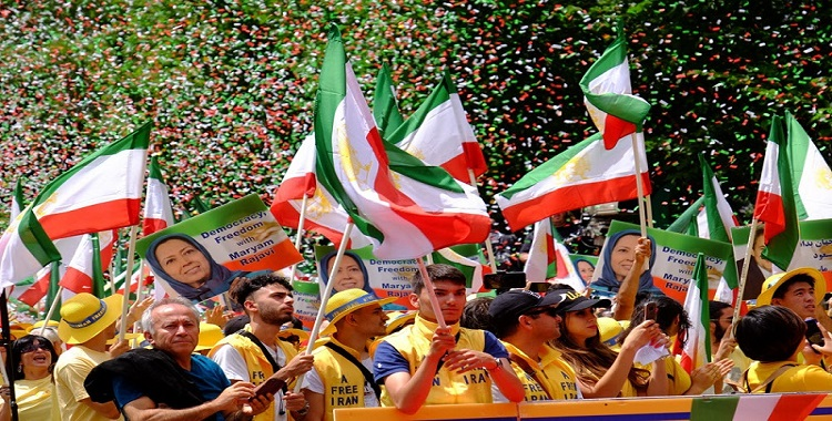 Free Iran 2021: Iranian Expatriate Rally to Invite the West to Stand on the Right Side of History
