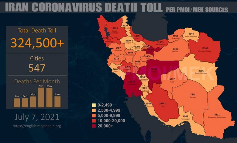 Iran: At Least 324,500 People Have Lost Their Lives to COVID-19