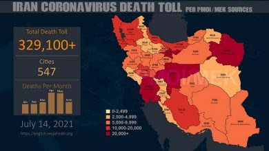 Iran: Covid-19 Death Toll Exceeds 329,100