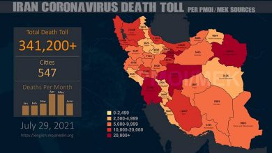 Iran: The Staggering Number of Coronavirus Death Toll Exceeds 341,200