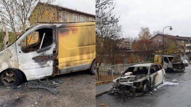 Setting Fire To MEK Supporters Van In Sweden
